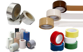 PACKING TAPES, FOIL TAPES, INSULATION TAPES, PROTECTION TAPES, SURGICAL TAPES, MOUNTING TAPES, SPECIALITY COATINGS